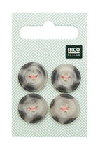 Boutons beige/gris