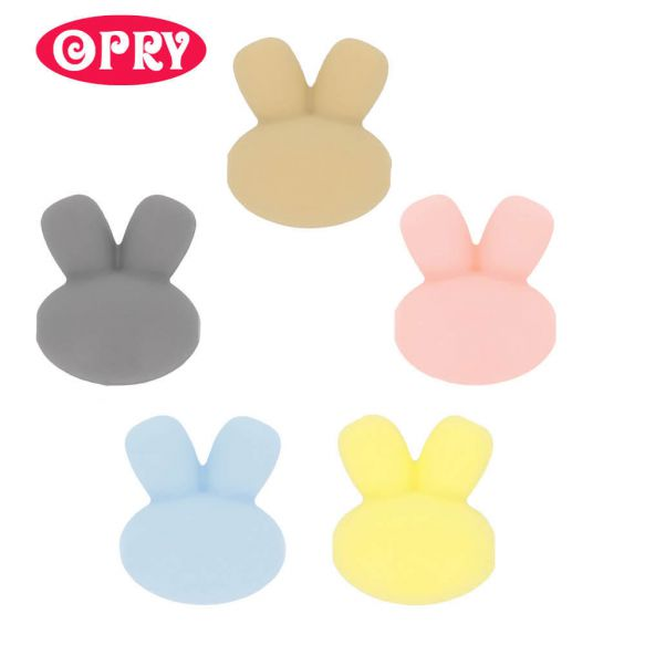Perle en silicone - lapin - 15 mm