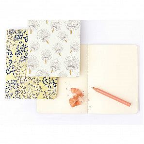 Set de bloc notes - A6 - bouquet sauvage