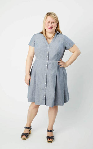 Lenox Shirtdress - patron papier