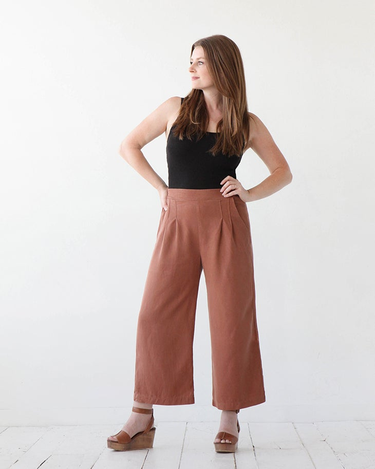 EMERSON CROP PANT / SHORT - True Bias - patron papier