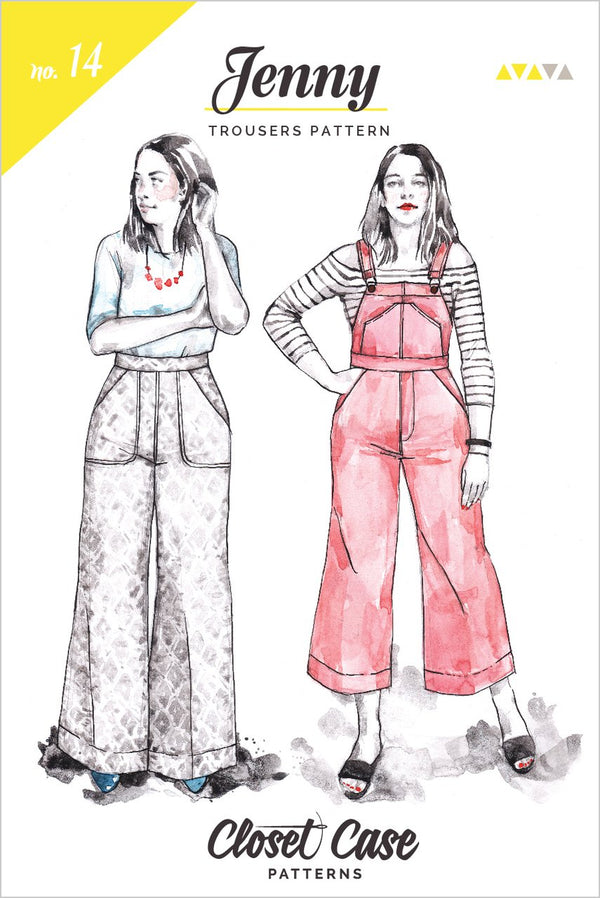 Jenny trousers & overall - patron papier