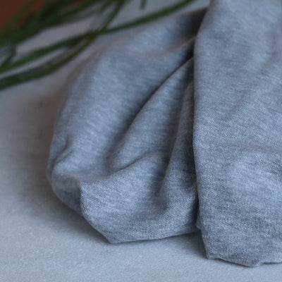 Organic brushed piqué - Light Grey - coton bio