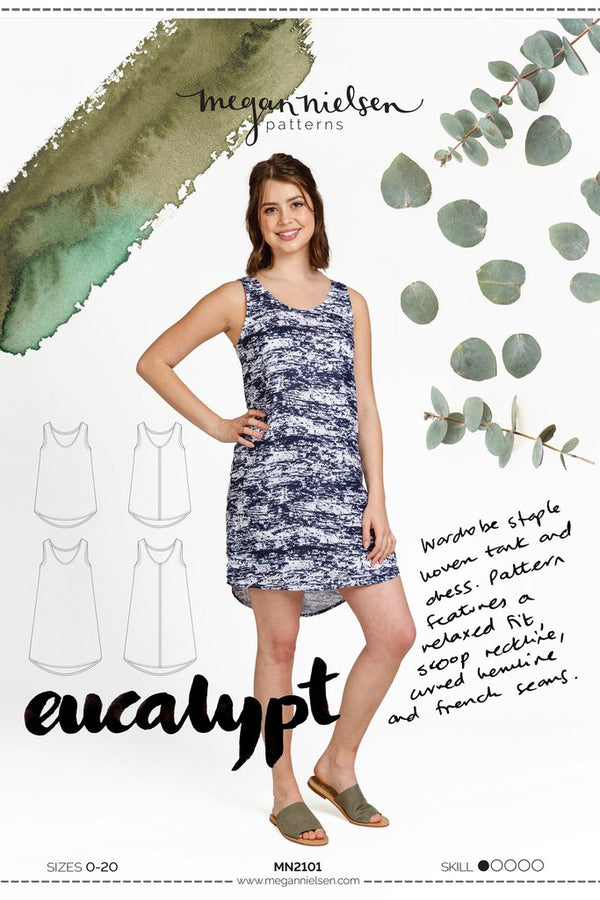 Eucalypt Dress and Tank top- Megan Nielsen - patron papier