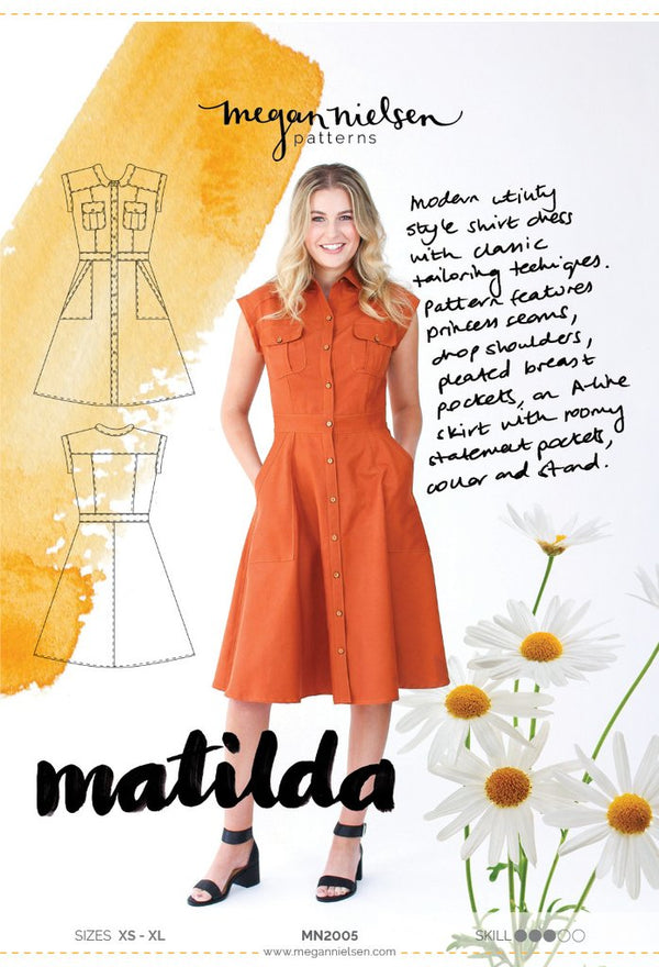Matilda dress - Megan Nielsen - patron papier