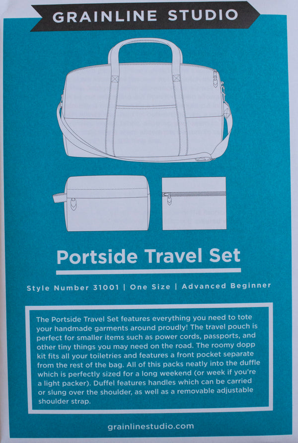 portside travel set graineline studio paper pattern patron papier livraison shipping europe