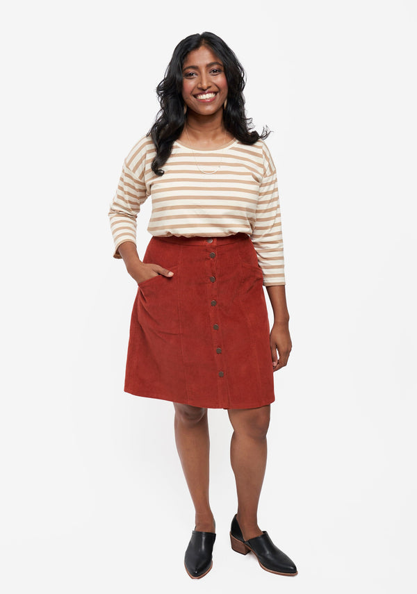Reed Skirt - taille 0-18 - patron papier