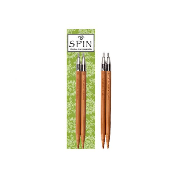Embouts [13cm] aiguilles interchangeables ChiaoGoo SPIN BAMBOO