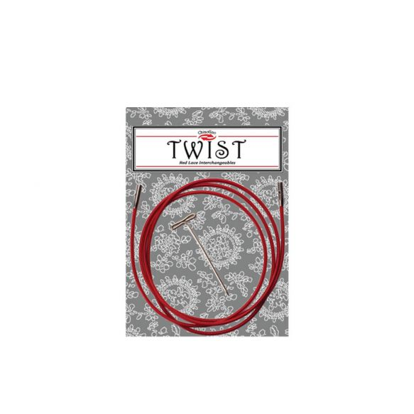 Cable TWIST red - L - Chiaogoo