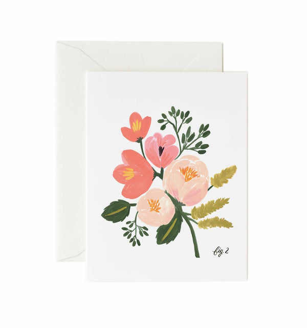 Carte - Peony Pink Floral