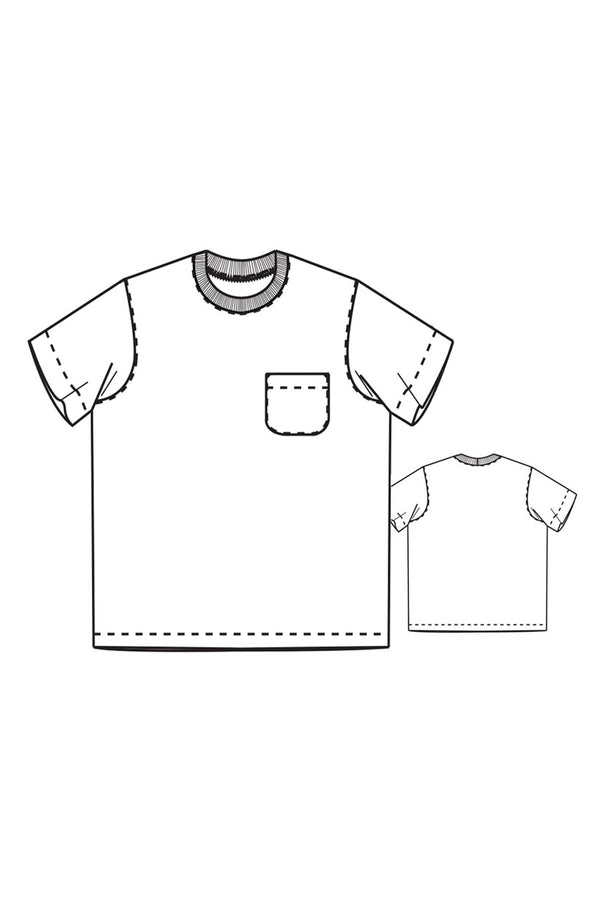 The Tee Shirt Men - patron papier