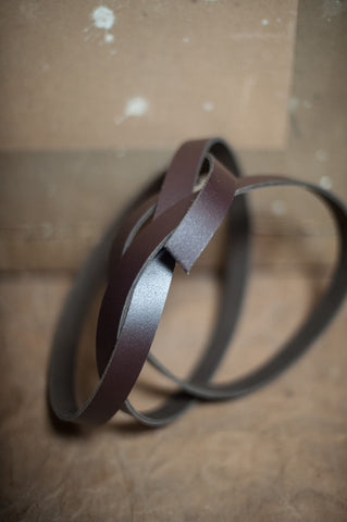 Sangle cuir - 2,5 cm