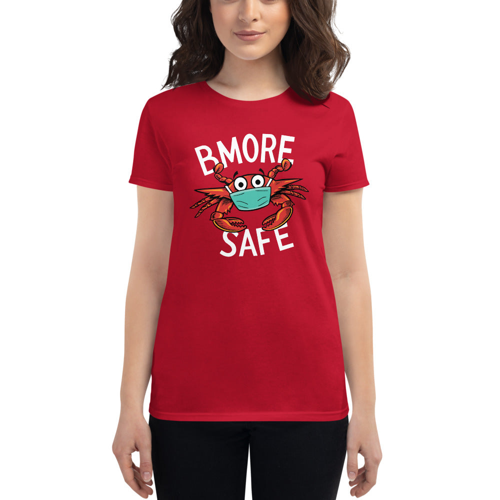 BMORE Safe Crab Red Women's short sleeve t-shirt