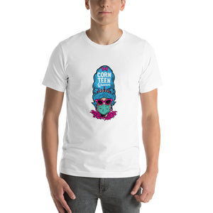 Corn Teen Queen with Feathers Short-Sleeve Unisex T-Shirt