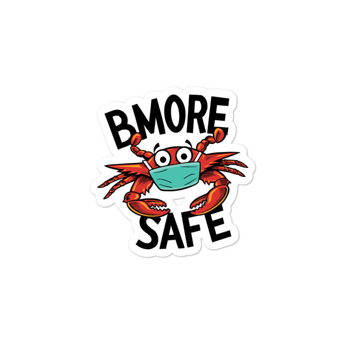BMORE SAFE Crab Bubble-free stickers