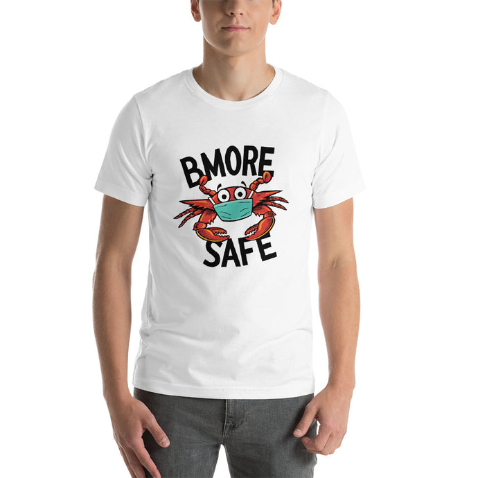 BMORE SAFE Crab White Short-Sleeve Unisex T-Shirt