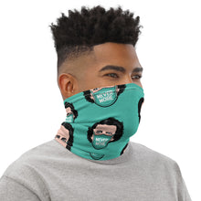 Never More Teal Neck Gaiter
