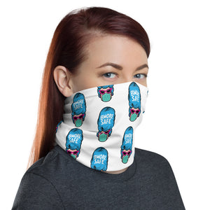 BMORE SAFE Hon White Neck Gaiter
