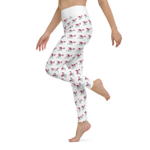 BMORE Safe Flamingo White Yoga Leggings