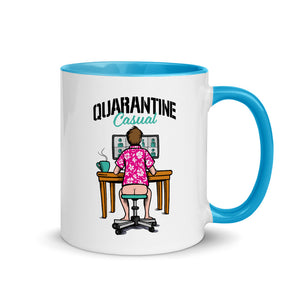 Quarantine Casual Mug with Blue Color Inside