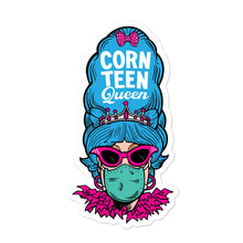 Corn Teen Queen with Feathers Bubble-free stickers