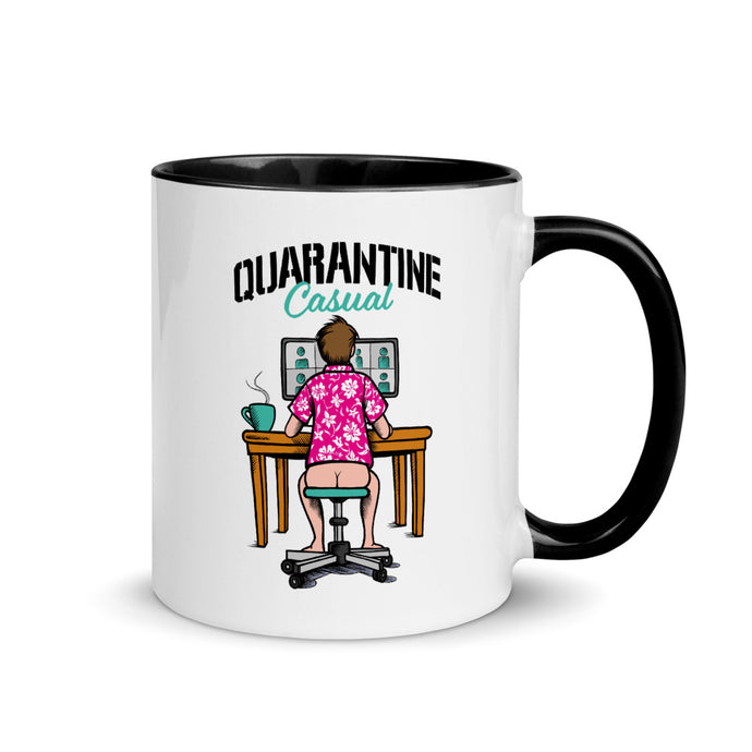 Quarantine Casual Mug with Black Color Inside