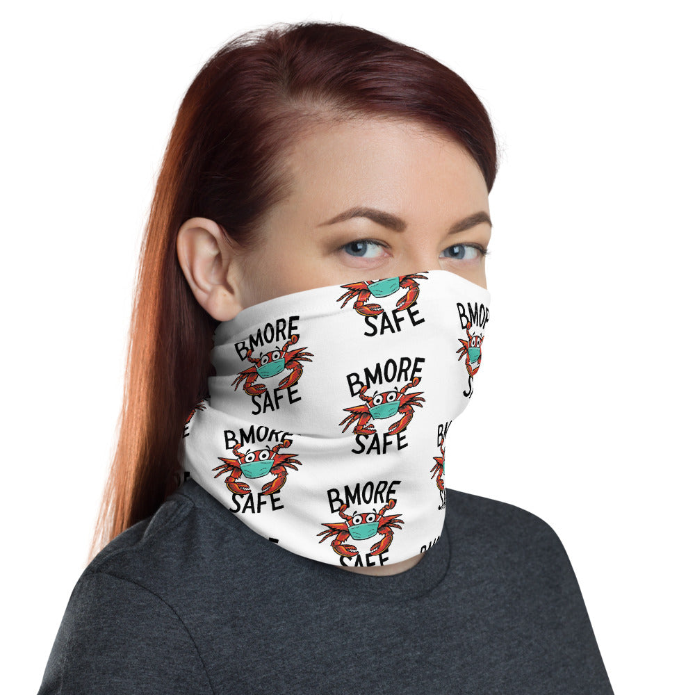 BMORE SAFE Crab White Neck Gaiter