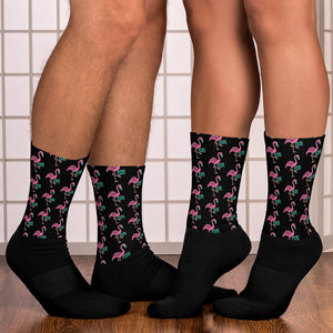 BMORE Safe Flamingo Black Socks