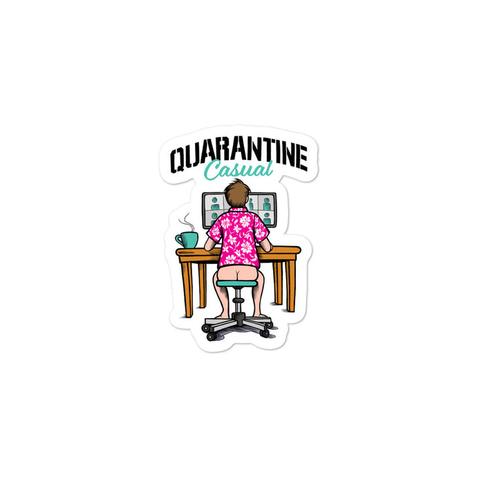 Quarantine Casual Bubble-free stickers