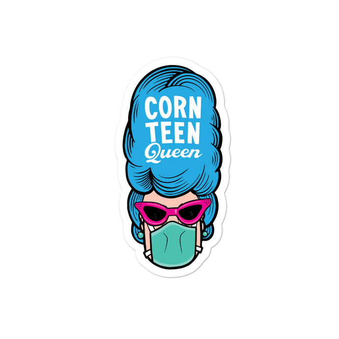 Corn Teen Queen Bubble-free stickers