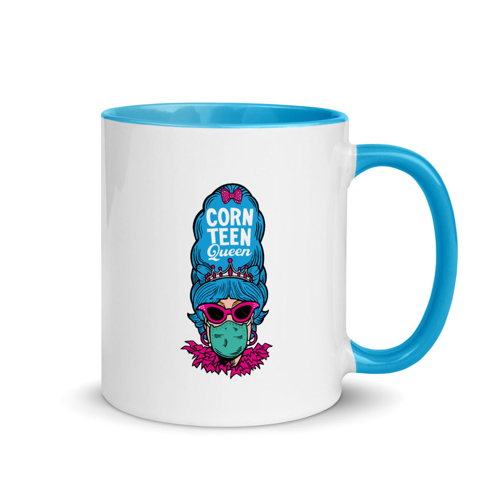 Corn Teen Queen with Feathers Mug with Color Inside