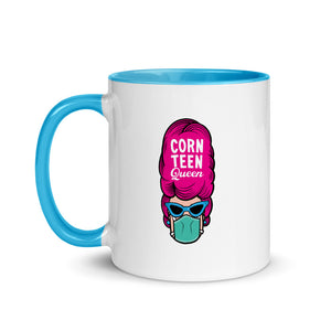 Corn Teen Queen Pink Hair Mug with Color Inside