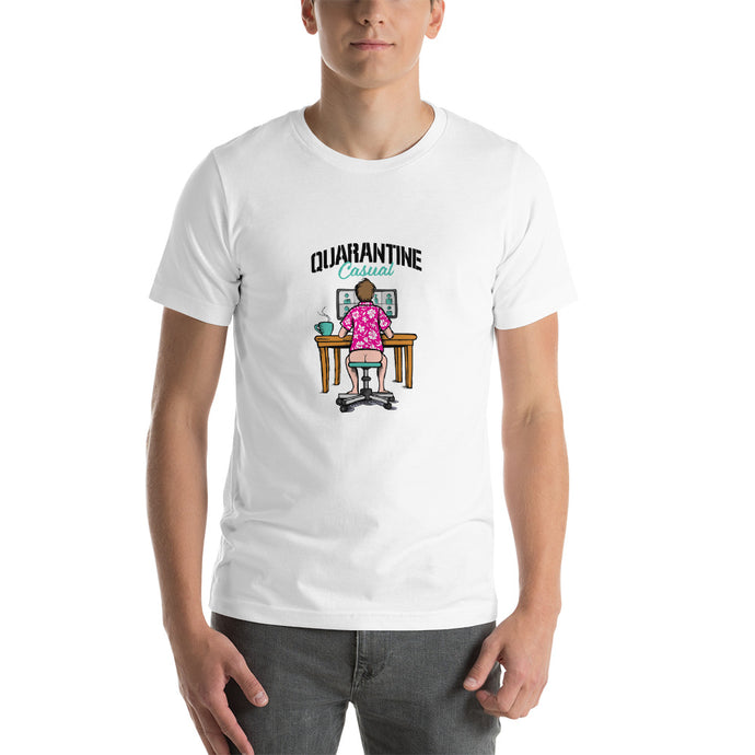 Quarantine Casual White Short-Sleeve Unisex T-Shirt