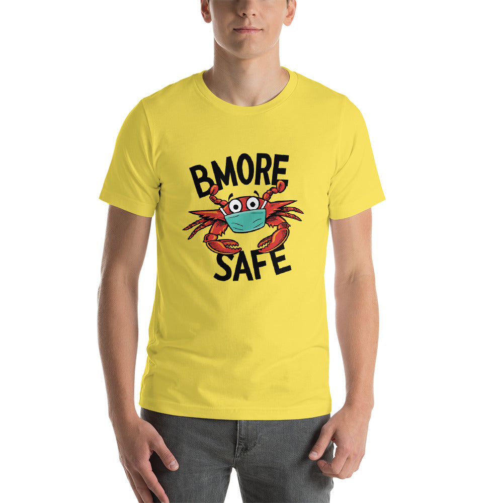 BMORE SAFE Crab Yellow Short-Sleeve T-Shirt