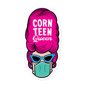 Corn Teen Queen Pink Hair Bubble-free stickers
