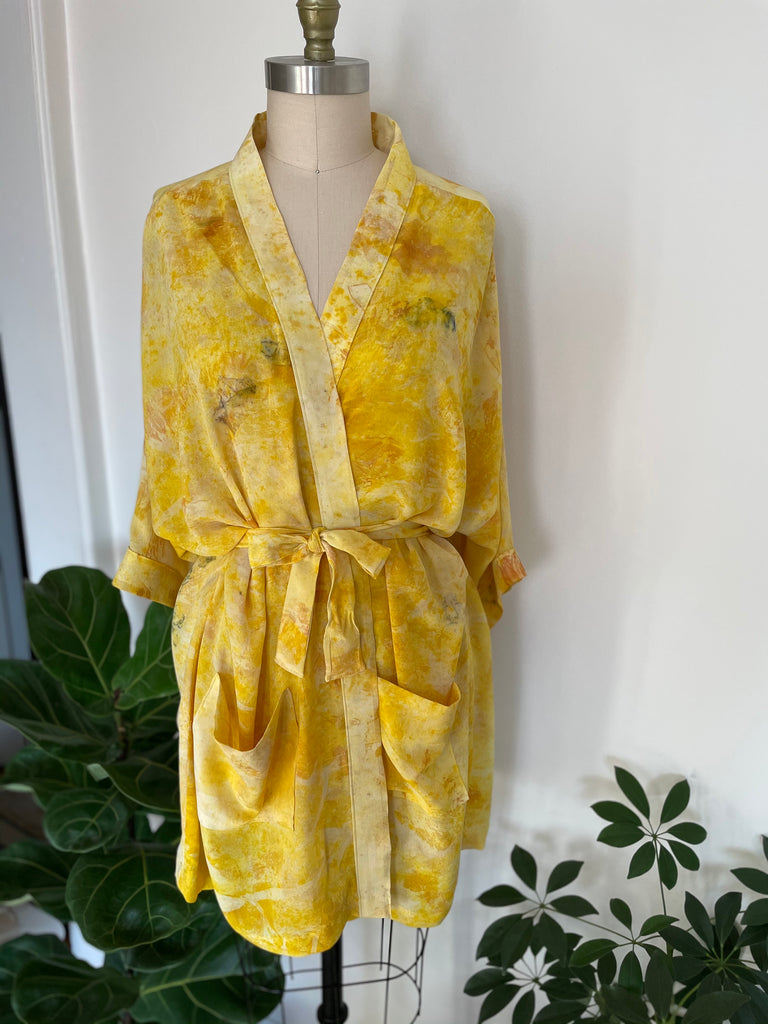 Eco-Dye Silk Robe :: 2nd Collab with Goli June