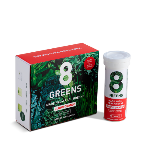 8Greens Effervescent Tablets in Blood Orange