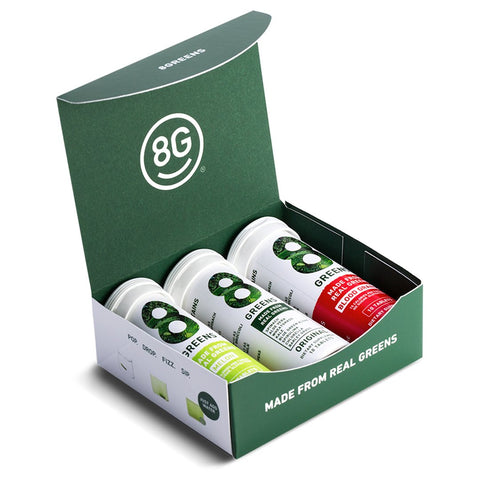 8Greens Variety Pack - Original Lemon Lime, Blood Orange & Melon