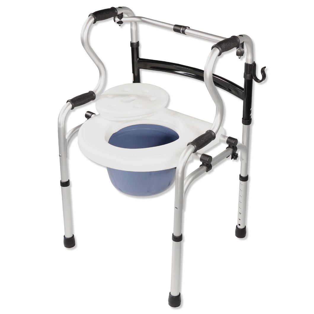 5-in-1 Mobility and Bathroom Aid - Commode Mode