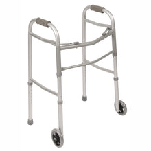Folding Adjustable Double Release Walker with Wheels