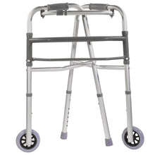 Collapsed Folding Adjustable Single Release Walker with Wheels