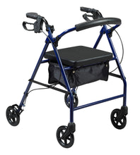 Front View of Rollator With Curved Backrest