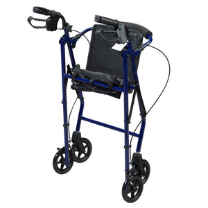 Collapsed Rollator With Curved Backrest