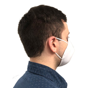 Rear-side view of man wearing face mask