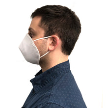 Side view of man wearing face mask