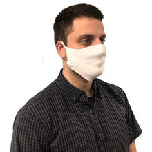 Right side of man wearing face mask