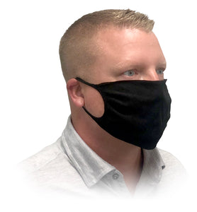 Black Knitted Face Mask on Man