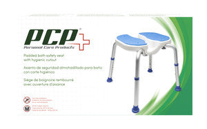 Padded Bath Safety Seat with Hygienic Cutout Packaging
