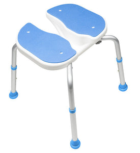Top of Padded Bath Safety Seat with Hygienic Cutout