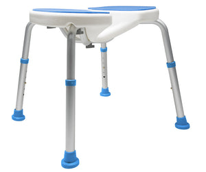 Side of Padded Bath Safety Seat with Hygienic Cutout